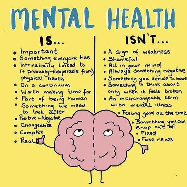 Mental health is and isn't